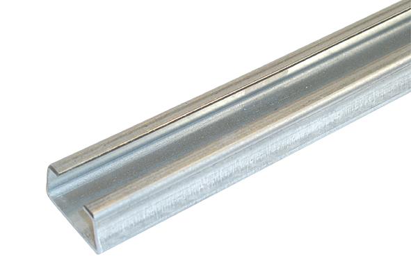 C-Profilschiene, ungelocht, 16,5 mm