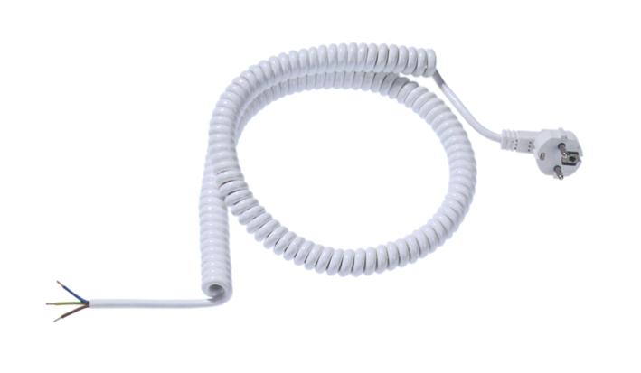 Spiralleitung, einseitig Schutzkontaktstecker