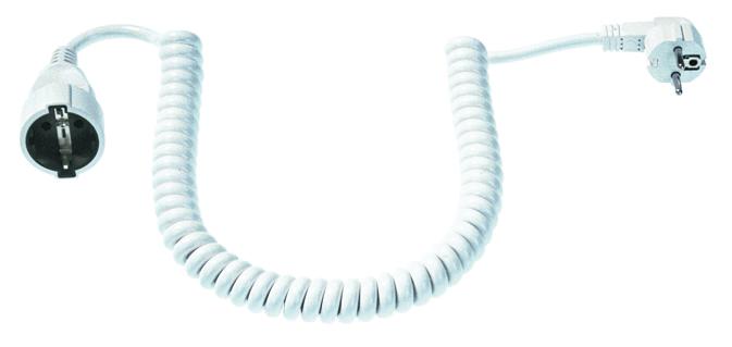 Spiral-Verlängerung, Stecker/Kupplung